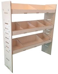 Van Ply Wood Shelving and Wood Van Racking Storage System 1087mm H x 1000mm W  x 269mm D - BVR1010263