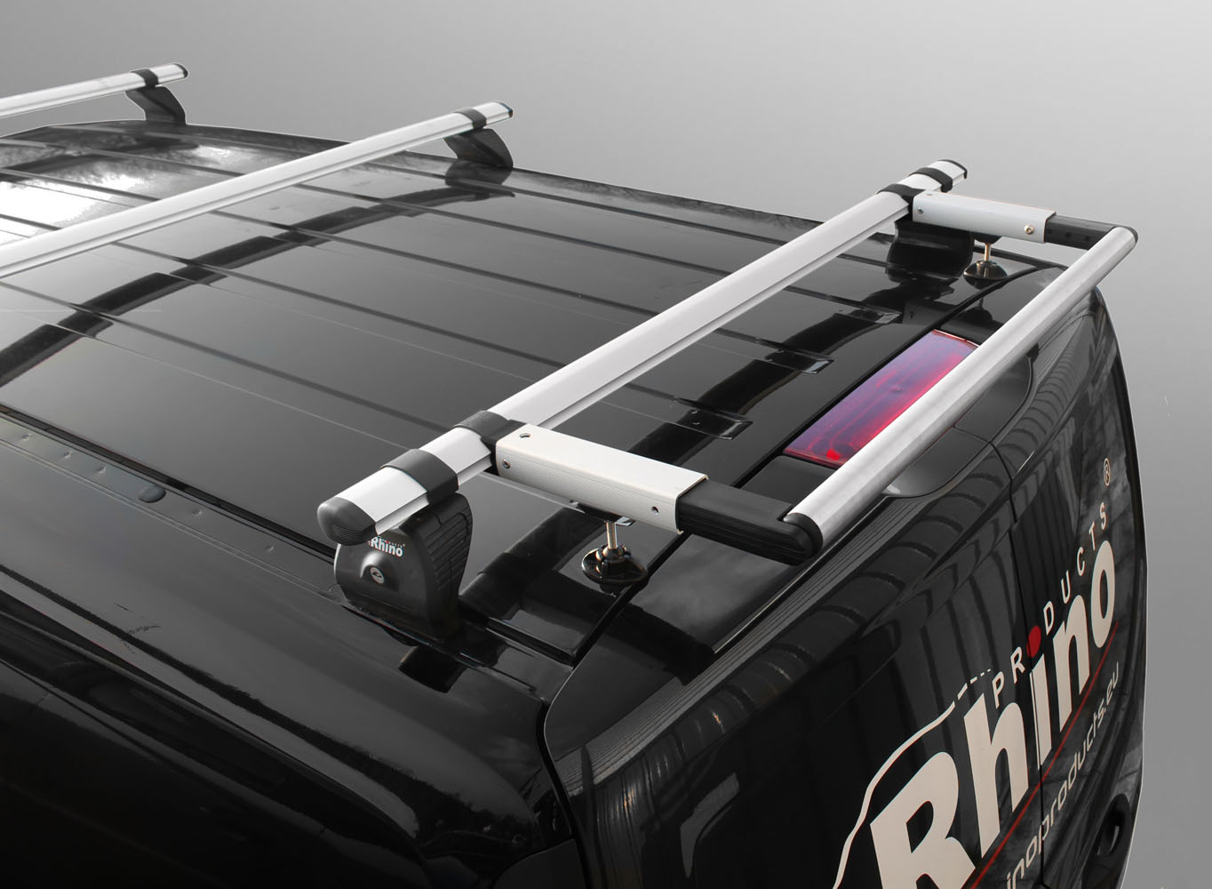 2012 on Rhino Delta 2 Bar Roof Bars and Rear Steel Ladder Roller System for Vauxhall Combo